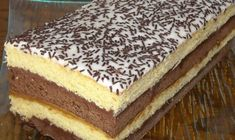Recipe - Neapolitan cake biscuit - Rated by users Hungarian Desserts, Romanian Desserts, Romanian Food, Hungarian Recipes, Ketogenic Recipes, Keto Recipes, Cooking Recipes, Neapolitan Cake, Opera Cake