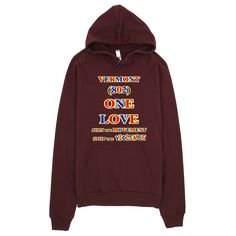 1694-H ... VERMONT ... Area Code 802 ... ONE LOVE ... HOODIE