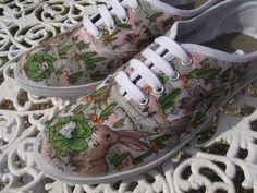 Adorable Peter Rabbit Sneakers - Custom made to order lace up pumps  any style/size by Gemsville, £25.00