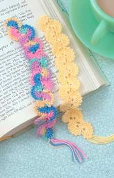 Crochet Thread Bookmarks from Leisure Arts. Find it here: http://www.leisurearts.com/products/crochet-thread-bookmarks.html #crochet #bookmarks