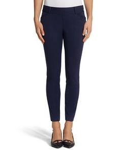 Great Navy Pants! So flattering and hard to find!  Loved them so much, I bought 2 pairs! (White House Black Market Ultra Stretch Pant #whbm)
