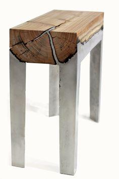 Wood Cast Stool by Hilla Sharmia