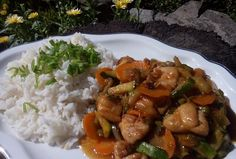 Kung Pao Chicken, Food And Drink, Rice, Chinese, Meat, Cooking, Ethnic Recipes, Indie, Kitchen