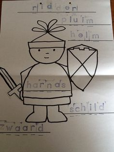 Begeleide of zelfstandige activiteit - Stempelopdracht ridder.