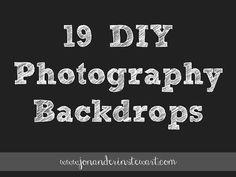 Jon & Erin Stewart: 19 DIY Photography Backdrop Tutorials and Ideas. #photography #tutorial #backdrops #diy