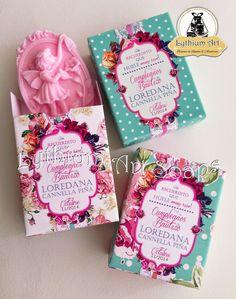 "Linea de Jabones para Bautizo ""Vintage Girl"" (Soap Box) | Lythium Art® Design by: Yil Siritt #soap #soappackaging #packaging #empaque #jabones #diseñovenezolano"