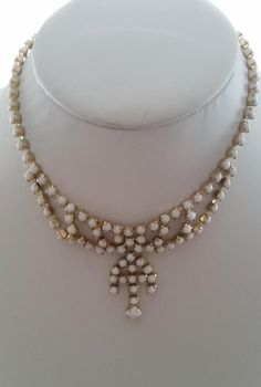 Jewelry & Watches Fashion Jewelry Job Lot 3 Vintage Milk Glass Beads Shiny Necklace Holiday Jewellery 1950s