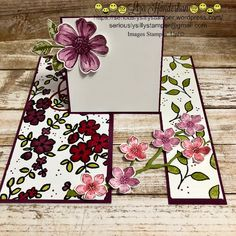 I have another Impossible Card to share. Have I mentioned that they are a great way to use up some DSP? Because I wanted to make a few Red Hat Society themed cards and I didn't re… Fancy Fold Cards, Folded Cards, Pop Up Cards, Cool Cards, Bridge Card, Interactive Cards, Shaped Cards, Card Making Techniques, Card Tutorials