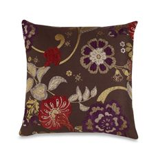 And...here's the pillow I actually got.  Nice colors, green, purple, brown, red.  Should look great.