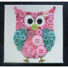 Pink and Aqua Blue Owl