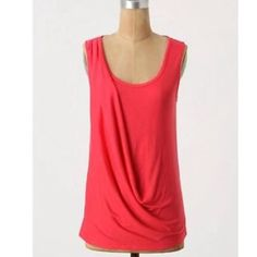 Anthropologie by Deletta tank Red, size: medium Anthropologie Tops Tank Tops