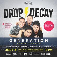 Drop Decay's The Generation Album Launch Cebu Finest Little Theatre, Music Events, Cebu, Live Music, Decay, Product Launch, Drop, Cebu City, Men's Fitness Tips
