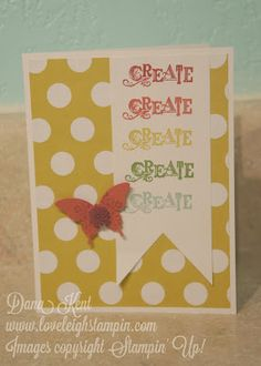 good idea for workshop invite  Stampin' Up! Create Card