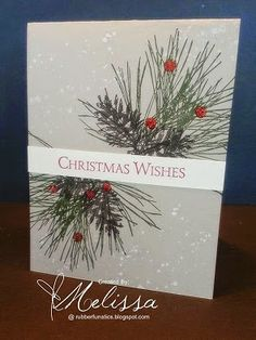 Stampin' Up! Ornamental Pine by Melissa Davies @ rubberfunatics