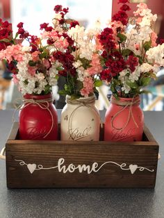 diy crafts, diy project, mason jars projects, diy and crafts mason jars jar Crafts Creative DIY Mason Jar Decorations - Page 27 of 45 - VimDecor Pot Mason Diy, Mason Jar Vases, Mason Jar Kitchen Decor, Mason Jar Centerpieces, Holiday Decorations, Centerpiece For Kitchen Table, Kitchen Table Centerpieces, Paint Mason Jars, Wedding Mason Jars