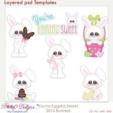 You're Eggstra Sweet Bunny Easter Layered Element Templates  cudigitals.com cu commercial scrap scrapbook digital graphics#digitalscrapbooking #photoshop #digiscrap