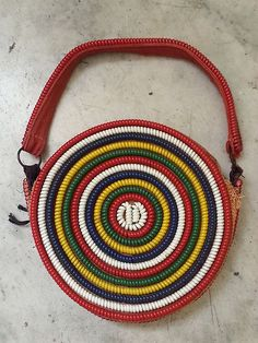 Vintage Novelty Telephone Cord Multi Colored Purse