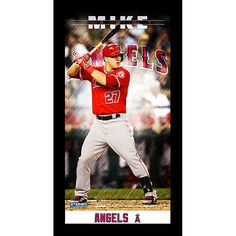 Los Angeles Angels of Anaheim Mike Trout Player Profile Wall Art 9.5x19 Framed Photo by Steiner Sports - MLB.com Shop