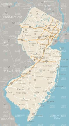 Physical Map Of New Jersey Craft Ideas Pinterest United - New jersey physical map