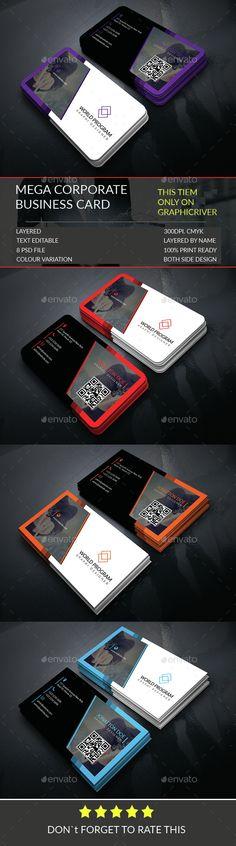 Mega Corporate Business Card Template.306