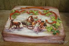 Wooden box with decoupage Ξύλινο κουτί με decoupage