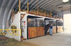 The loft above the stalls great for hay or just a place to hang or store things