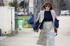 84 Outfit Ideas For Style Extroverts #refinery29  http://www.refinery29.com/2015/03/83675/paris-fashion-week-2015-street-style#slide-63  This is what ladylike looks like in 2015.