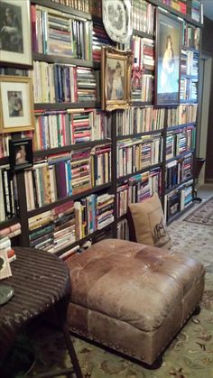 What a wonderful wall of books!