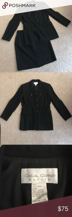 Casual Corner Matching Skirt Suit Casual Corner Matching Skirt Suit Casual Corner Other