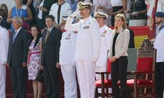 Queens & Princesses - King Felipe and Queen Letizia attended the 25th anniversary of the promotion in 1989 from the Naval Military Academy Pontevedra.