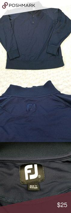 """FootJoy Golf Quarter Zip Jacket Pullover Navy Blue Quarter Zip FootJoy Golf Jacket.  Measures laying flat Chest 21"""" Length 26"""" FootJoy Jackets & Coats Performance Jackets"""