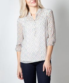 Bought this Ivory Speckled Allegory Top on #zulily! #zulilyfinds