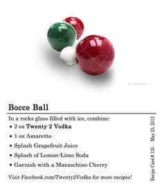 Ball #Cocktail Recipe: #Vodka, Amaretto, Grapefruit Juice, Lemon Lime ...