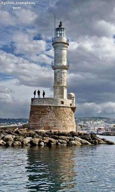 The #Lighthouse ~ Chania, Grete Island, #Greece - http://dennisharper.lnf.com/