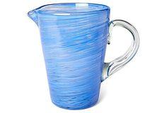 Blue Swirl Pitcher on OneKingsLane.com