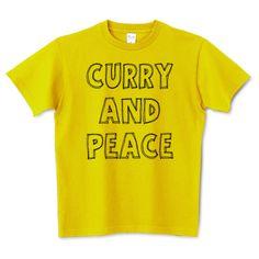 カレー&ピース(タイポグラフィーTシャツ) | デザインTシャツ通販 T-SHIRTS TRINITY(Tシャツトリニティ)