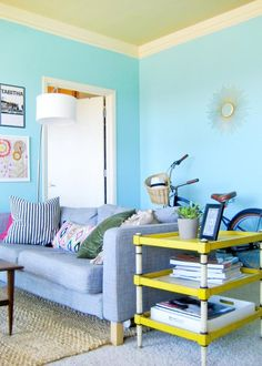 Mine!  #turquoise #decor #color #colorful #beachcruiser #bike #yellow #ikea     #