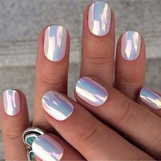 holographic nails nail stickers nail accessories nail polish hippie rad metallic… – My CMS Mirror Effect Nail Polish, Mirror Nails, Chrome Nails Designs, Nail Art Designs, Crome Nails, Opal Nails, Nail Photos, Metallic Nails, Acrylic Nails