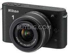 Nikon 1 J1 SLR Black Digital Camera w/ 10-30mm VR Lens