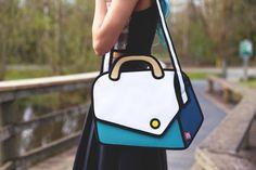 Sembrano solo dei disegni, ma queste borse realizzate da Jump From Paper sono vere.  #fashion #design