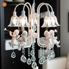 269.36$  Watch now - Modern Crystal Chandeliers With The Angel   Living Room Light Modern Pendant Lamps   Lighting Led Free Shipping  #buyonline