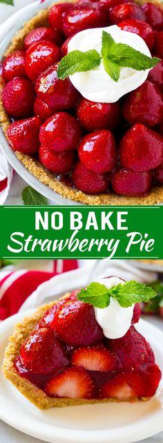 No Bake Strawberry Pie Recipe   Fresh Strawberry Pie   Strawberry Pie Recipe   No Bake Pie Recipe