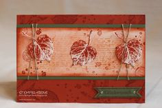 French Foliage - Stampin' Up! Autumn Fall card, Herbst, by http://stempel-biene.blogspot.de