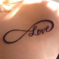 infinity love - if I ever got a tatoo