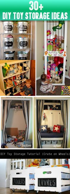 30+ Amazing DIY Toy Storage Ideas For Crafty Moms -  If you want to get some original, practical, simple and affordable DIY toy storage ideas, then here you will find tens of them – just choose the one that best meets your needs and start working on it!