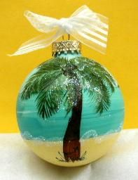Caribbean Christmas Ornaments by Diane Artware Island Gifts 2009