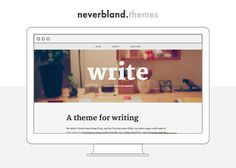 Write | Tumblr theme