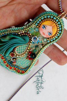 matryoshka art doll by Fantasiria, OOAK on Etsy shop.