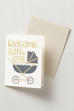 Welcome Little Ones Card - anthropologie.com