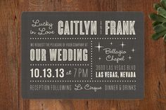 Lucky in Love Wedding Invitations by Susan Asbill at minted.com the back can be Red in this one!
